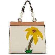 Μπεζ τσάντα με φοίνικα