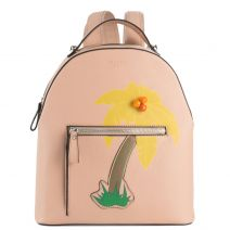 Pink backpack with palmtree design