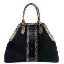 Μαύρη τσάντα σουέντ