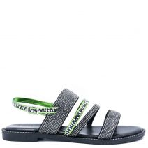 Black multistrap sandal