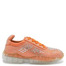 Orange chunky sole sneaker