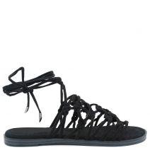 Μαύρο lace up σανδάλι