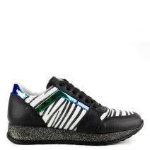 Black animal print sneaker