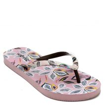 Women's pink flip-flop with floral print