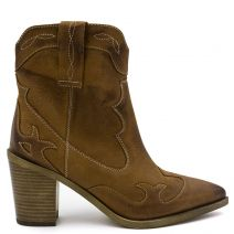 Tobacco leather western boot