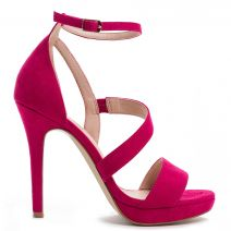 Fucshia multistrap sandal