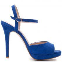 Royal blue suede sandal