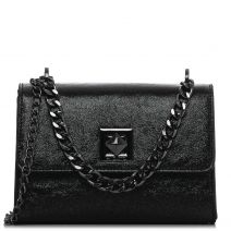 Black metallic shoulder bag