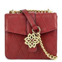 Red mini bag with a flap