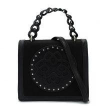 Μαύρη τσάντα με καπάκι