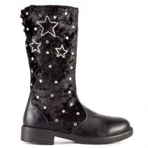 Kid's black boot with stars
