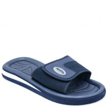 Men's navy flip flop with velcro band