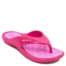 Women's fuchsia athleic flip-flop