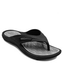 Women's black athleic flip-flop