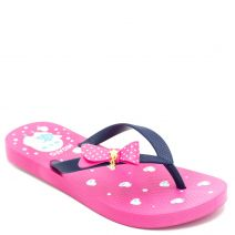 Kid's flip-flop with navy thong and insole print