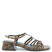 Brown snakeskin sandal