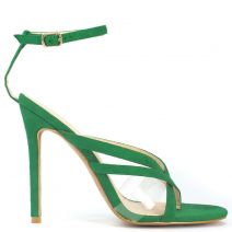 Green high heel sandal with pvc
