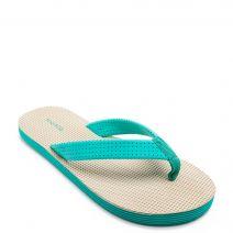 Green-beige flip-flop