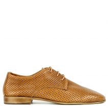Tobacco leather Oxford