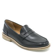 Men's black leather loafer