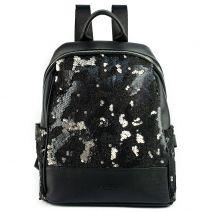 Black sequins backpack