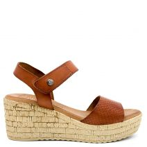 Tobacco leather wedge