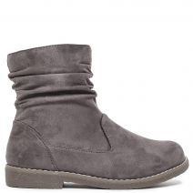 Grey suede bootie