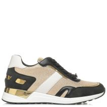 Gold metallic sneaker