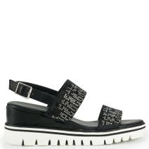 Black flatform with rhinestones