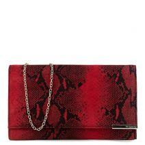 Red snakeskin envelope