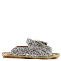 Grey knitted espadrille