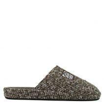 Men's brown knitted slipper