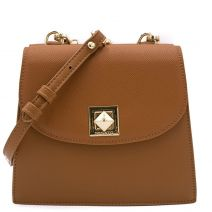 Double side tan shoulder bag