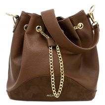 Brown drawstring bag