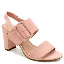 Pink sandal with buckle