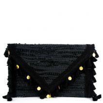 Black leather envelope