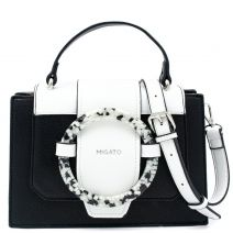 Black handbags with decorative ring