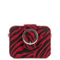Red zebra clutch