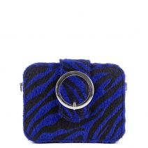 Blue zebra clutch