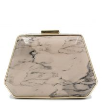 Pink marble print clutch