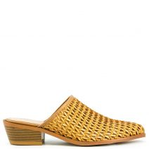 Camel knitted pointy mule