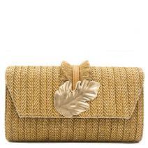 Tan straw textured envelope