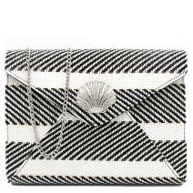 Black and white straw envelope