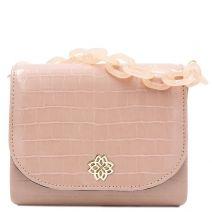 Pink croco handbag