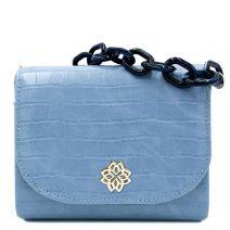 Light blue croco handbag