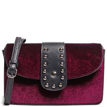 Dark red velvet bag