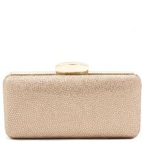 Pink gold clutch with rhinestones