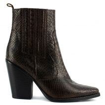 Brown western bootie