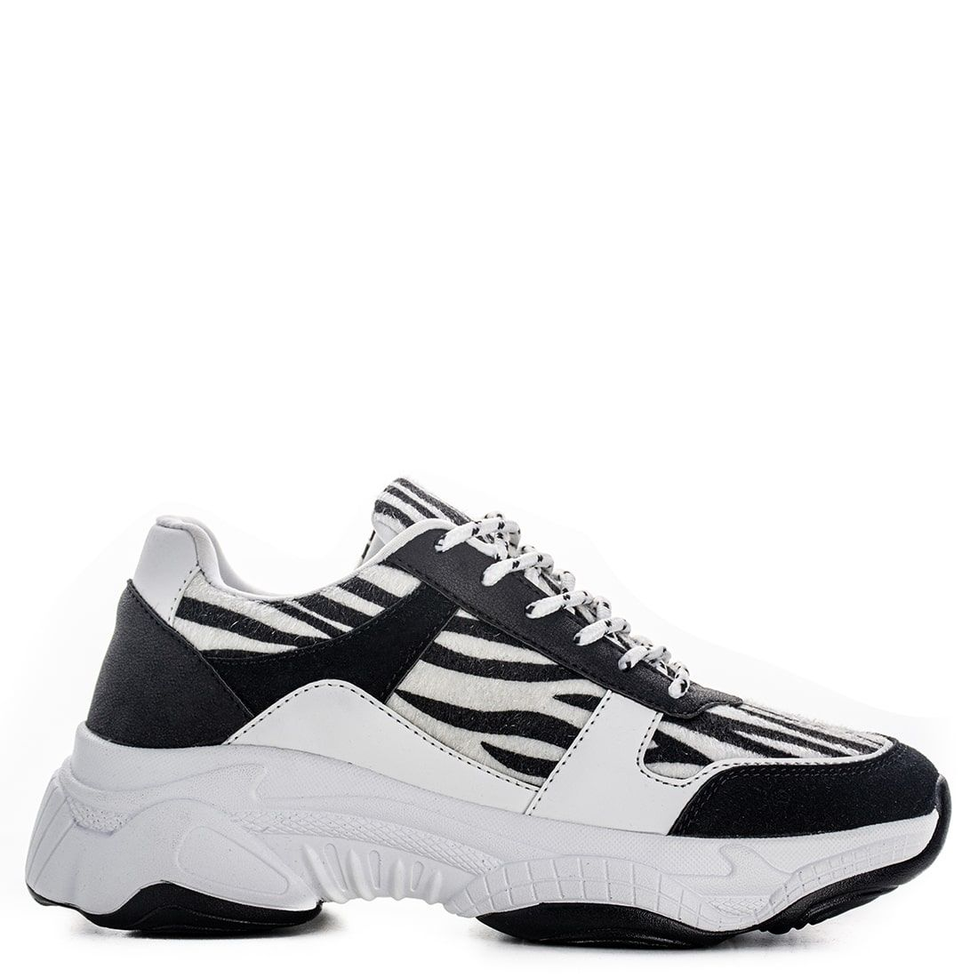 Black and white animal print sneaker