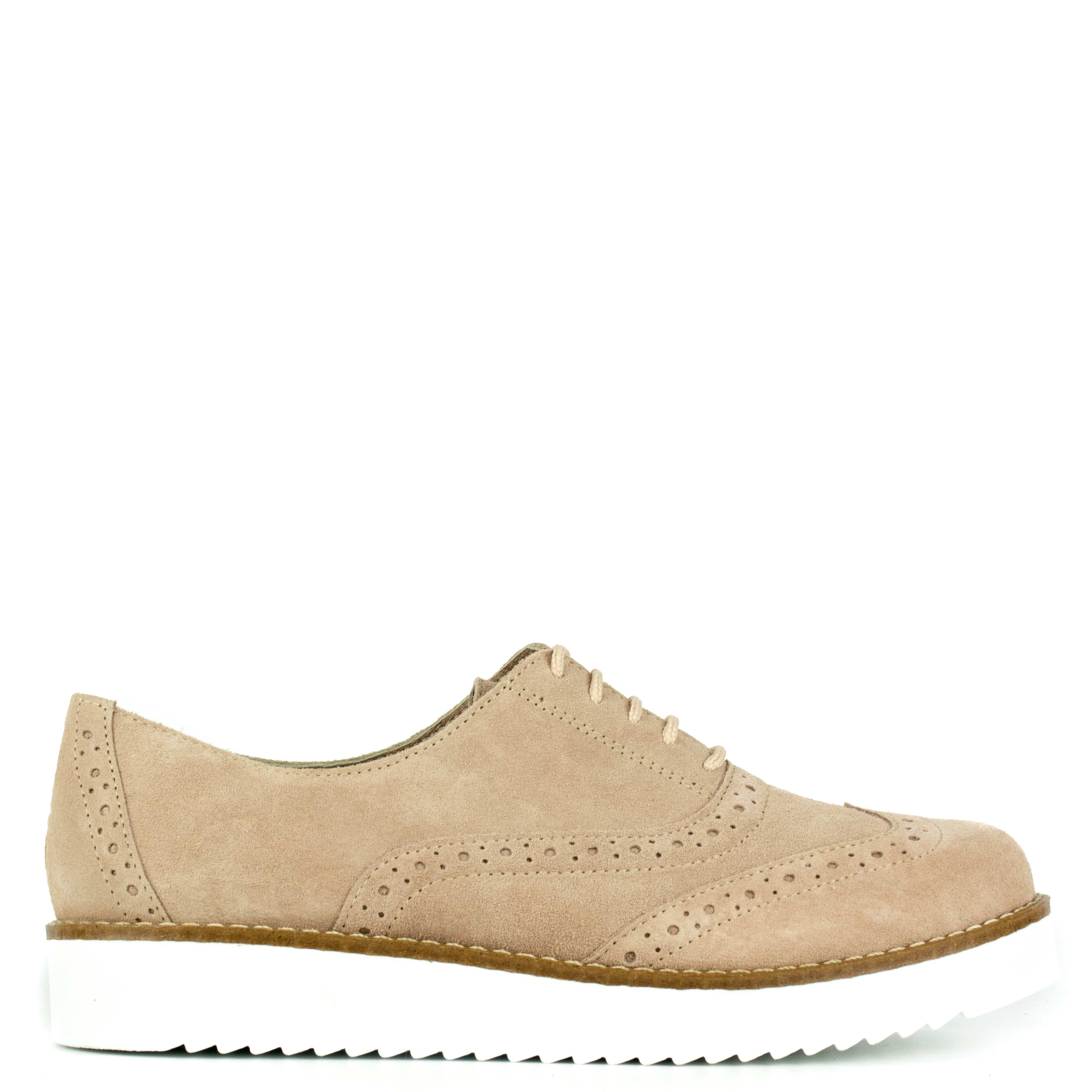 Nude suede leather oxford RC1020-L0P